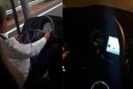 Otobüsün şoförü yolcuların ödünü koparttı