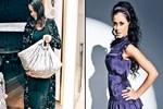 Zeynep Demirel bebeğini çantada taşıyor