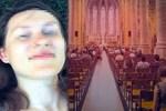 Rus turiste kilisede iğrenç taciz!
