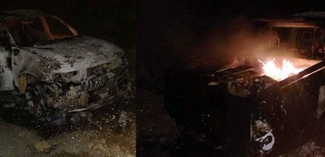 PKK'lı teröristler, Şırnak'ta yol kesip araç yaktı!
