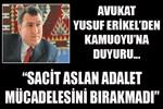 Avukat Yusuf Erikel: