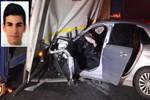 Otomobil tırın altına girdi: 1 ölü, 1 yaralı
