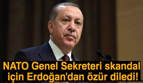 NATO Genel Sekreteri skandal için Erdoğan'dan özür diledi