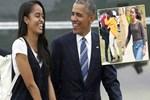 Obama'nın başı kızı Malia ile dertte!