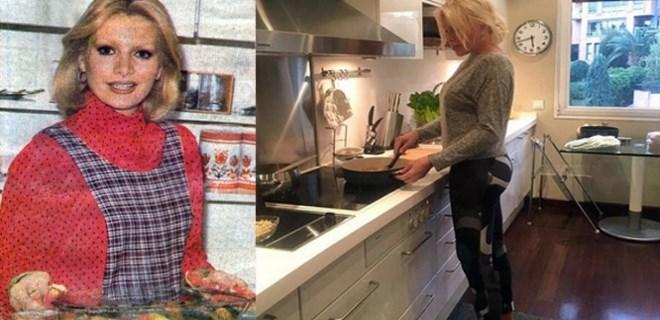 Ajda Pekkan taytı giydi mutfağa girdi