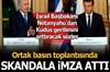 İsrail Başbakanı Binyamin Netanyahu, Fransa Cumhurbaşkanı Emmanuel Macron ile düzenlediği basın...