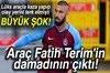 Ünlü futbolcu Burak Yılmaz'ın kaza yaptığı aracın Fatih Terim'in damadı Volkan Bahçekapılı'nın...