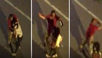 Yolda yürüyen kadına saldırıp taciz etti
