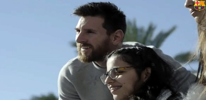 Suriyeli sığınmacıya Messi'den büyük sürpriz!