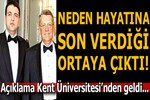 Kent Üniversitesi'nden Yavuz Yılmaz hakkında açıklama