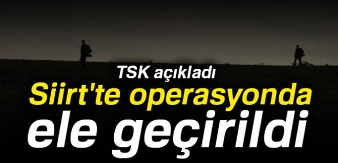 TSK açıkladı: