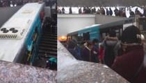 Moskova'da otobüs yayaların arasına daldı!