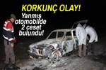 Kütahya'da yanmış otomobilde 2 ceset bulundu!