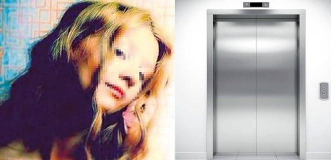 Genç manken asansörde kâbusu yaşadı!