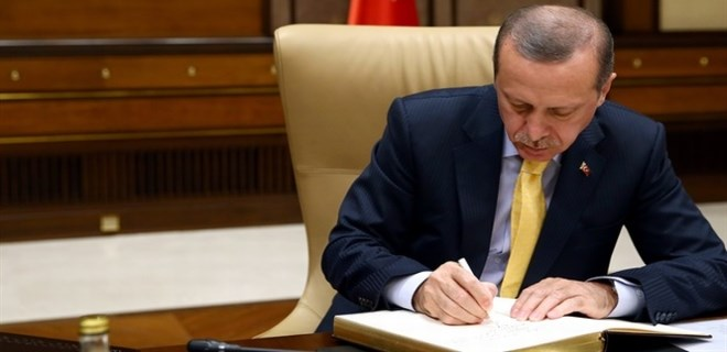 Erdoğan'dan referandum onayı