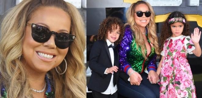 Mariah Carey ikizleriyle galaya katıldı