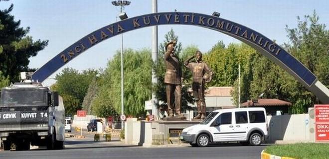 Diyarbakır 8'inci Ana Jet Üs Komutanlığı'nda hırsızlık şoku