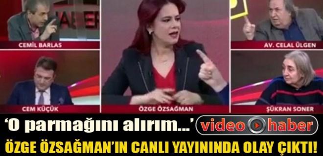 Özge Özsağman'ın canlı yayınında kavga çıktı!