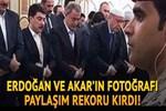Erdoğan ve Akar'ın fotoğrafı paylaşım rekoru kırdı
