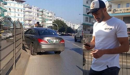 Antalyasporlu golcü futbolcu kaza yaptı!