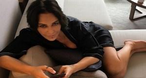 Hülya Avşar klip çekiminden paylaştı