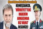 Ahmet Hakan Hulusi Akar'a seslendi!