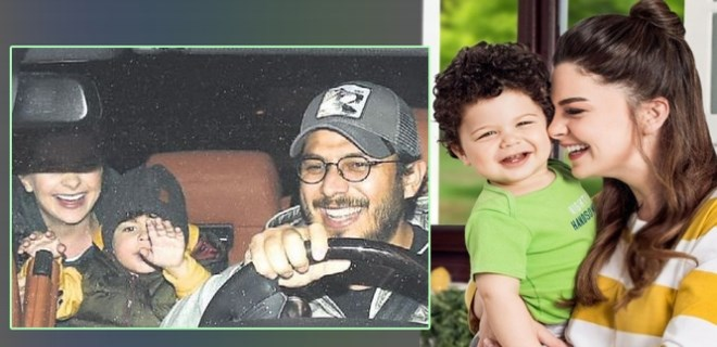 Pelin Karahan'ın oğlundan muhabirlere sevimli tepki