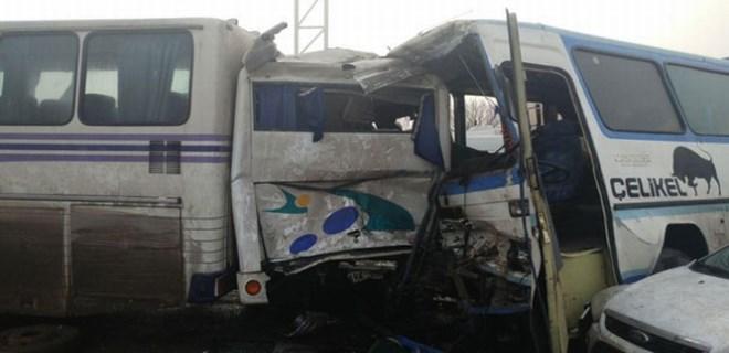 Konya'da zincirleme trafik kazası!