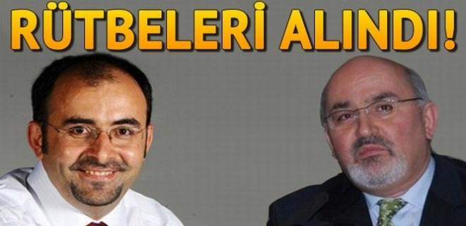 Önder Aykaç ile Emre Uslu'nun rütbeleri ve emeklilik hakları alındı