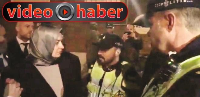 Hollanda Bakan Kaya'yı polis zoruyla durdurdu