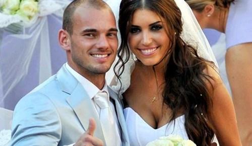 Wesley Sneijder'dan eşine milyonluk hediye!