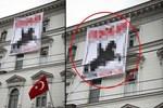 Viyana'da Türk Büyükelçiliği'ne iğrenç saldırı!