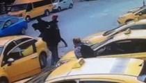 İstanbul'da yaşanan taksici rezaletinin görüntüleri