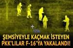Operasyon sırasında şemsiye açıp kaçan PKK'lılar F-16'lara yakalandı