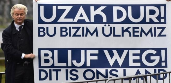 Irkçı lider Wilders'den Türkiye karşıtı küstah gösteri