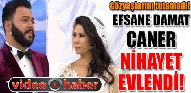 Caner Toygar gözyaşlarıyla evlendi!
