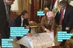 Harita başında çok tartışılacak fotoğraf
