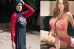 Lindsay Lohan haşemayı attı, sütyeni taktı!