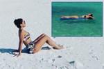 Hadise Maldivler'in tadını çıkarıyor