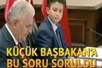 Küçük Başbakan'a 'tekli eğitim sistemi' sorusu