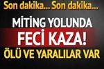 Cumhurbaşkanı Erdoğan'ın mitingine gidenleri taşıyan otobüs devrildi