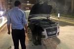 Atatürk Havalimanı'nda park halindeki araç yandı