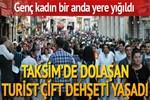 Taksim'de 'yorgun mermi' dehşeti!