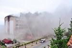Ordu'da 7 katlı otelde yangın çıktı!