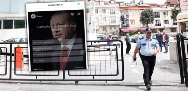 Sözcü 'Erdoğan sizce nerede?' anketi yapmış