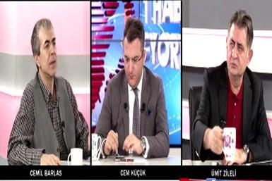 Cemil Barlas ve Ümit Zileli canlı yayında kavga etti