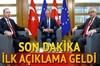 Cumhurbaşkanı Recep Tayyip Erdoğan Avrupa Birliği (AB) Konseyi Başkanı Donald Tusk ve AB Komisyonu...