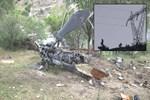 Şırnak'ta düşen askeri helikopterin enkazı