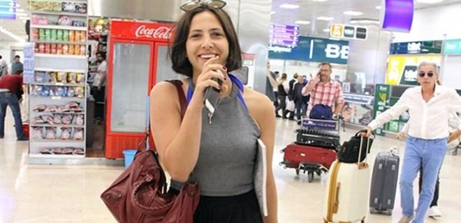 Zehra havaalanında panikledi!