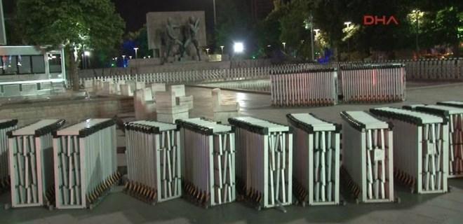 Ankara'daki Güvenpark'a bariyerler getirildi